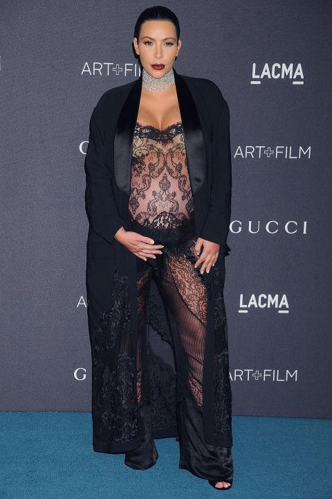 15 kiểu váy áo trong suốt khoe cơ thể của Kim Kardashian - 6