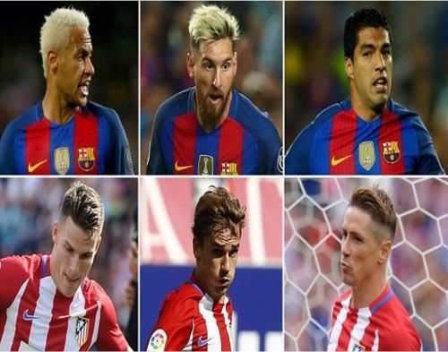 Atletico cũng có tam tấu khủng đấu MSN của Barca - 1