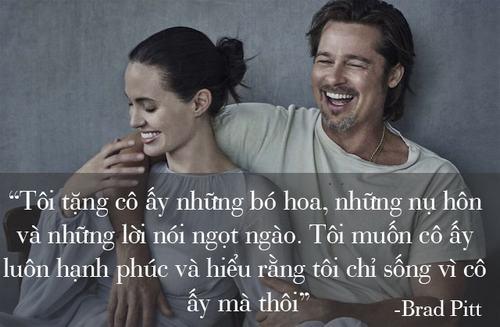 """Những phát ngôn tình yêu """"để đời"""" của cặp Jolie - Pitt - 5"""