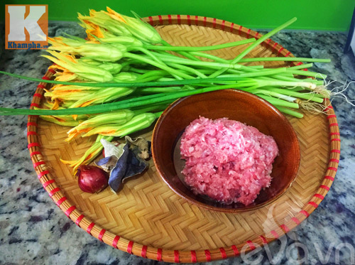 Bông bí nhồi thịt hấp ngon cho ngày nóng bức - 1
