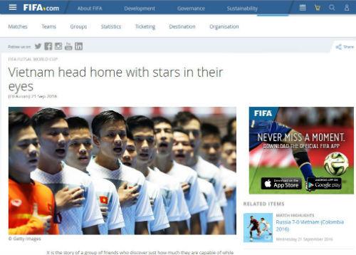 Dù thua, futsal Việt Nam vẫn được FIFA ngợi ca - 2