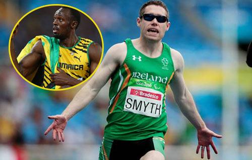 Usain Bolt Paralympic kém kỷ lục 100m có 1 tích tắc - 1