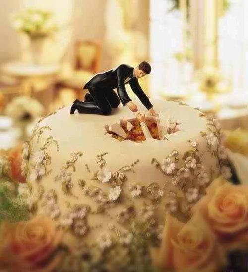 Thông điệp hài hước từ những chiếc bánh cưới - 5