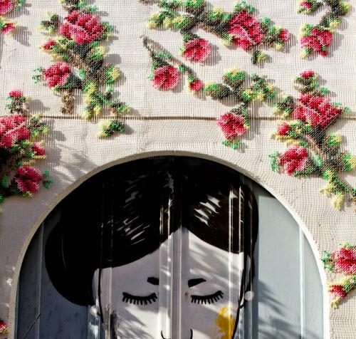 """Lạ kỳ những bức tường """"đan len"""" ở Tây Ban Nha - 5"""