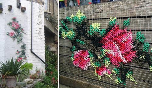 """Lạ kỳ những bức tường """"đan len"""" ở Tây Ban Nha - 7"""