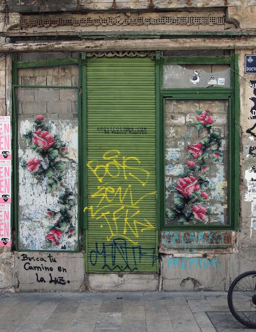 """Lạ kỳ những bức tường """"đan len"""" ở Tây Ban Nha - 9"""