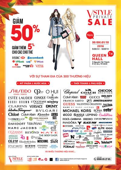300 thương hiệu thời trang, mỹ phẩm đồng loạt giảm 50%! - 1
