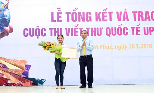 Viết về em bé Syria, cô gái Việt giành giải nhất UPU2016 - 2