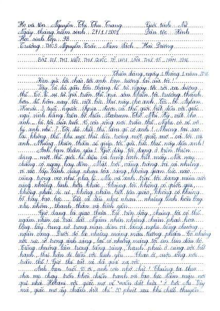 Đọc bản viết tay bức thư hay nhất thế giới của nữ sinh Hải Dương - 1