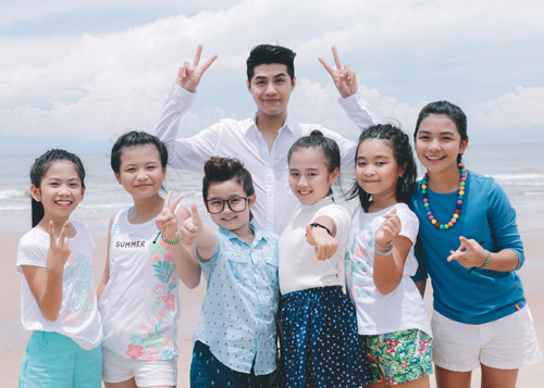 Noo Phước Thịnh cùng học trò quay MV bảo vệ môi trường - 1
