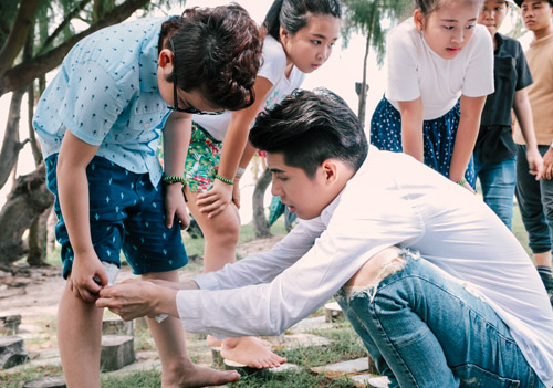 Noo Phước Thịnh cùng học trò quay MV bảo vệ môi trường - 3
