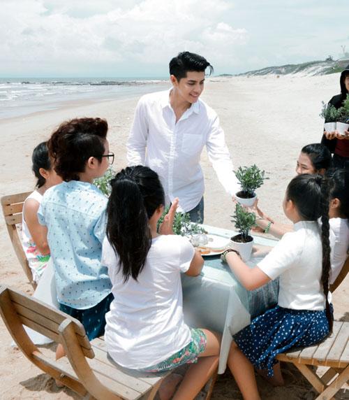 Noo Phước Thịnh cùng học trò quay MV bảo vệ môi trường - 6