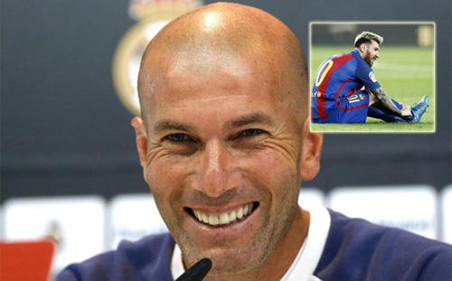 """Zidane hả hê: """"Barca sẽ tệ hơn khi không có Messi"""" - 1"""