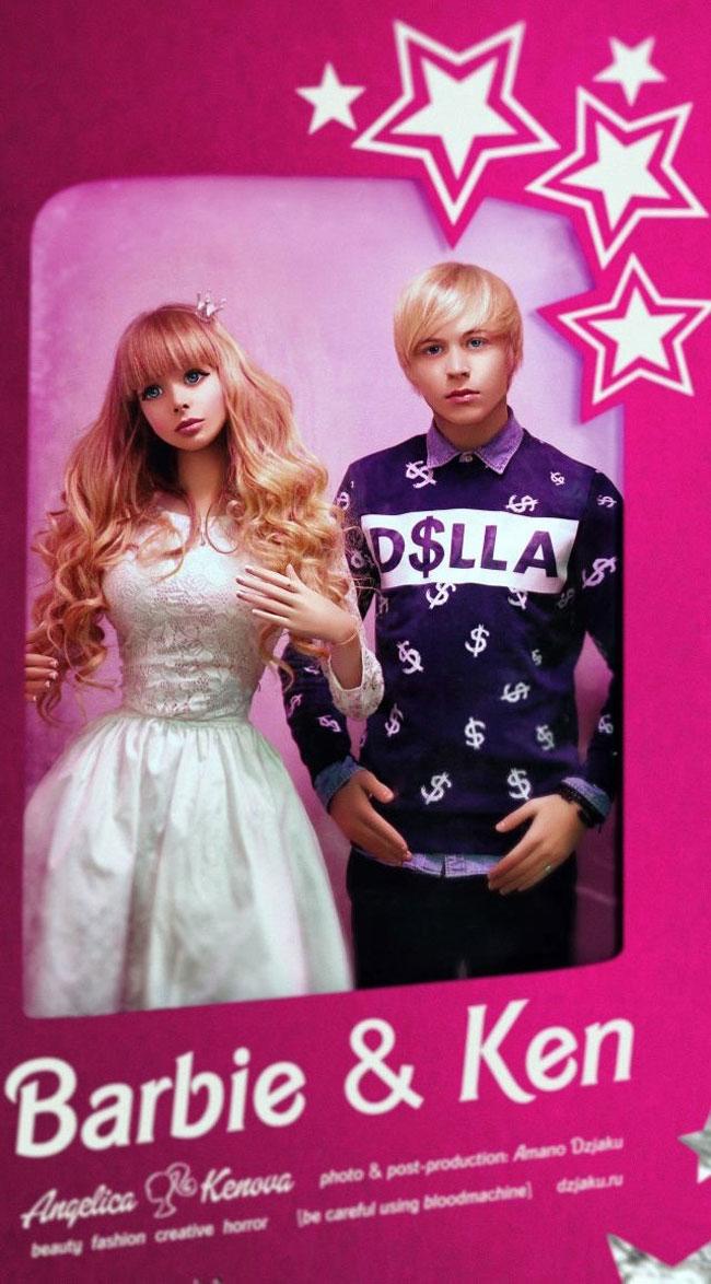 """Cô có ngoại hình giống hệt búp bê Barbie với ba vòng  """" siêu chuẩn """" ."""