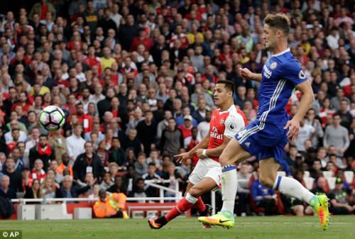 Arsenal phá dớp trước Chelsea, Wenger hả hê ra mặt - 1