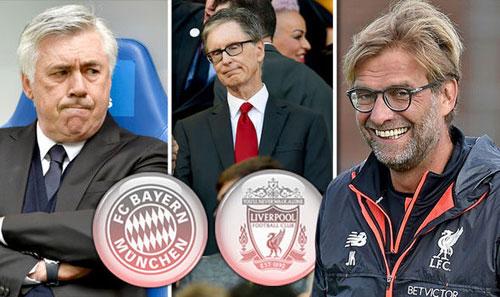 """""""Bay"""" cùng Liverpool, Klopp được nhắm thay Ancelotti - 2"""
