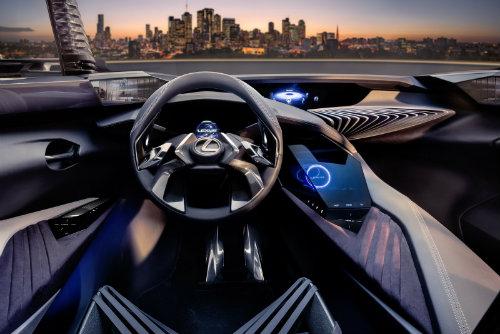 Lexus UX concept có nội thất ba chiều cực chất - 3