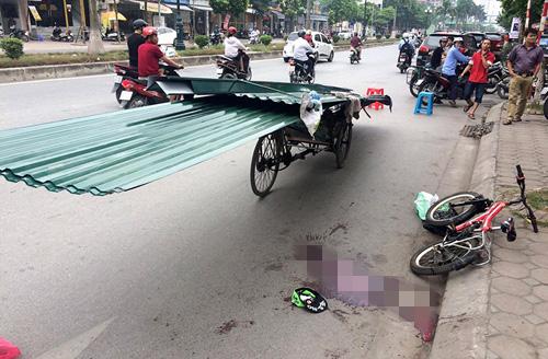 Thêm một nạn nhân bị xe chở tôn cứa cổ tử vong - 1