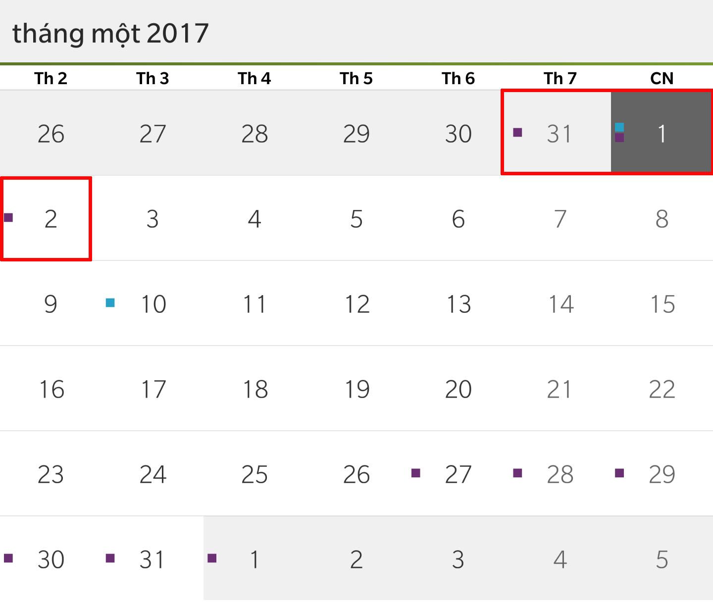 Tết Dương lịch 2017, người lao động được nghỉ mấy ngày? - 1