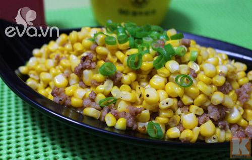 Ngô xào thịt băm dân dã cho bữa cơm đầu tuần - 4