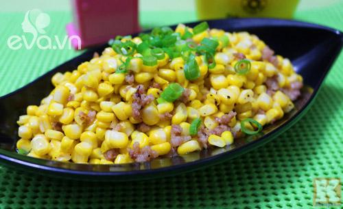 Ngô xào thịt băm dân dã cho bữa cơm đầu tuần - 5