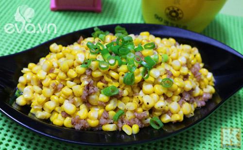 Ngô xào thịt băm dân dã cho bữa cơm đầu tuần - 6