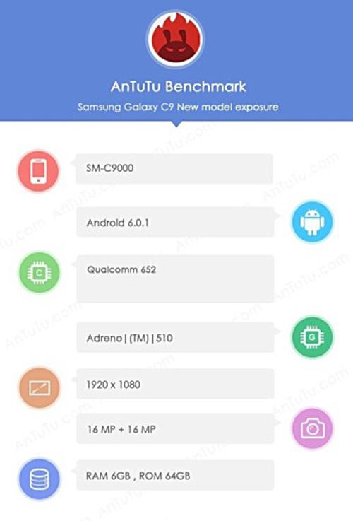 Lộ ảnh Samsung Galaxy C9 dùng RAM 6GB - 3