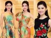 Hoa hậu Mỹ Linh đọ sắc cùng 2 á hậu