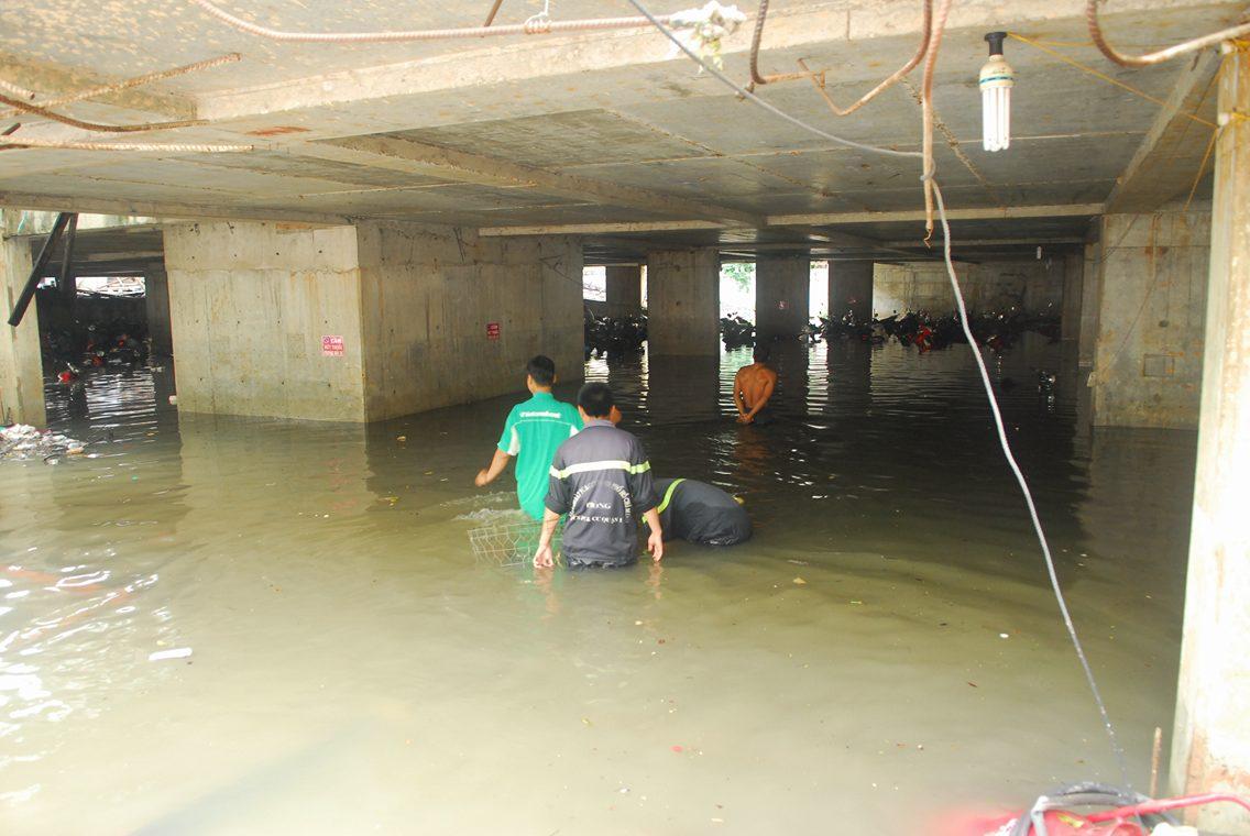 Hơn 1.000 xe máy chìm nghỉm dưới tầng hầm ở Sài Gòn - 8
