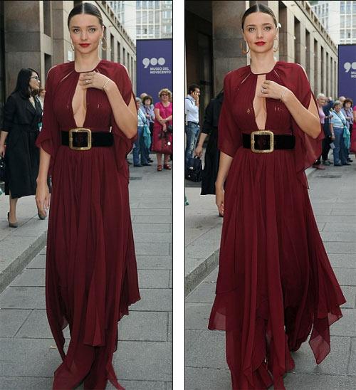 Miranda Kerr khoe ngực đầy siêu quyến rũ ở Milan - 4