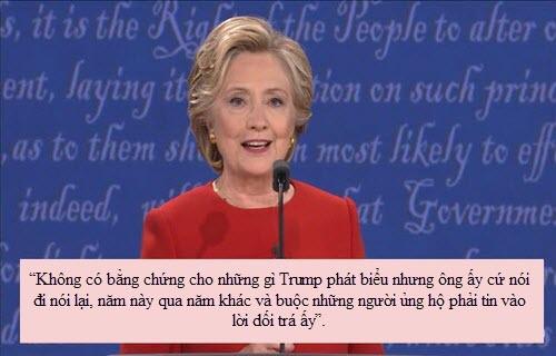 """""""Soi"""" điểm chính trong màn đấu khẩu giữa Trump-Clinton - 4"""