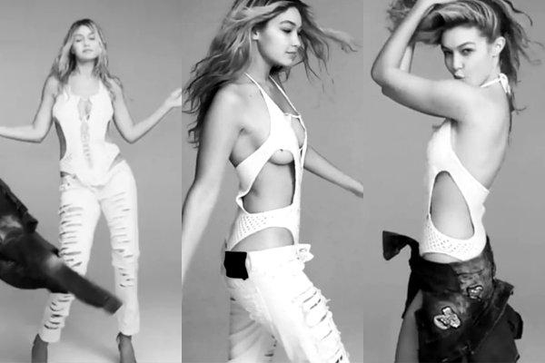 """Những khoảnh khắc """"thả rông"""" vòng 1 gợi cảm của Gigi Hadid - 3"""