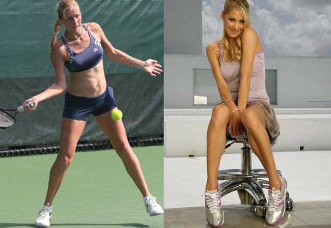 """Tài năng của Alona Bondarenko không quá nổi trội, cô được biết tới nhờ vẻ đẹp nhiều hơn. Cô cao 1.68 m, số đo 3 vòng hoàn hảo được ví như  """" Nữ hoàng sắc đẹp """"  Anna Kournikova (Nga), một thời đình đám."""