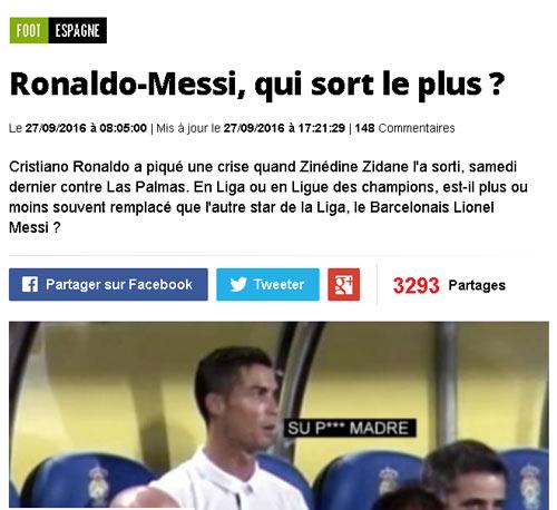 Không ra sân, Messi im ắng nhưng giận dữ như Ronaldo - 1
