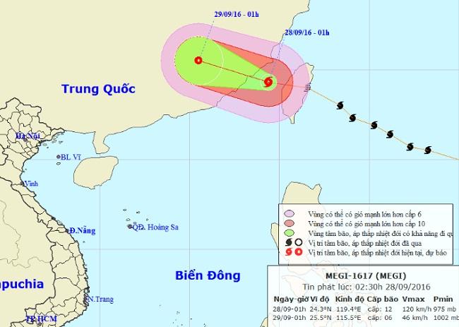 Bão MEGI giật cấp 14-15 đi vào Biển Đông - 1