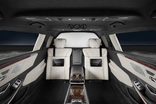Mercedes-Maybach S600 Pullman có giáp mạnh như xe tăng - 6