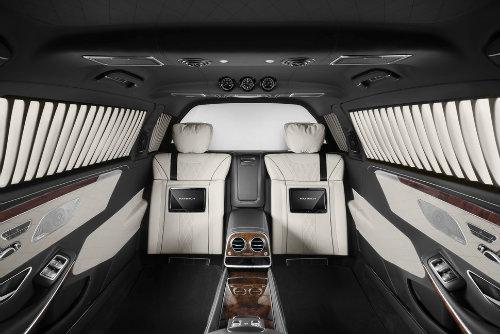 Mercedes-Maybach S600 Pullman có giáp mạnh như xe tăng - 3