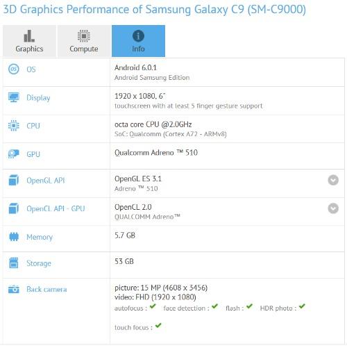 Samsung Galaxy C9 tiếp tục lộ cấu hình - 2