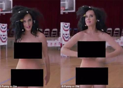 Katy Perry khỏa thân gây sốc để ủng hộ bầu cử TT Mỹ - 1
