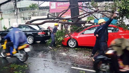 Sóng đánh ào ạt trên đường phố Sài Gòn sau mưa - 10