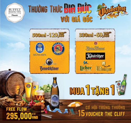 Quá sốc với bia Đức giá gốc tại Octoberfest của Hoàng Yến Buffet Premier - 9