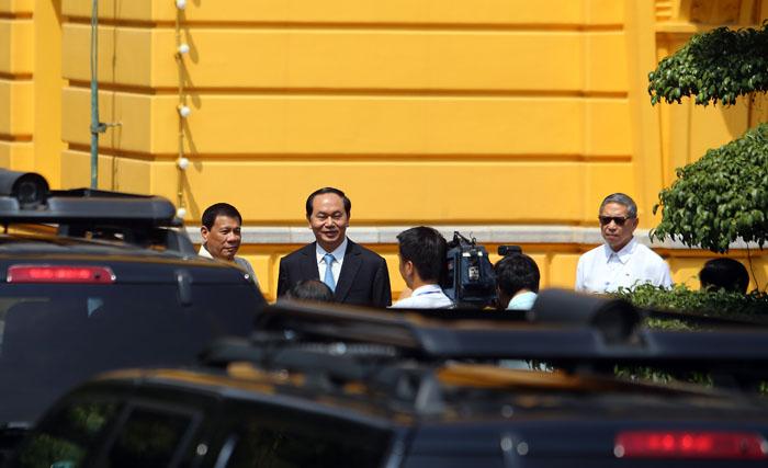 Ảnh: Lễ đón chính thức Tổng thống Philippines thăm VN - 1