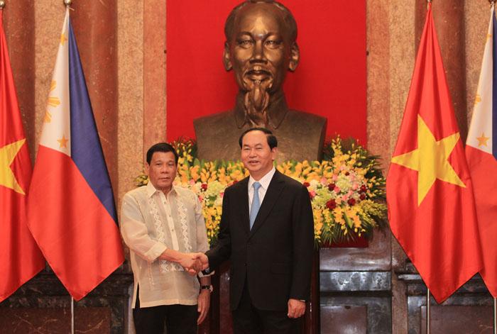 Ảnh: Lễ đón chính thức Tổng thống Philippines thăm VN - 7
