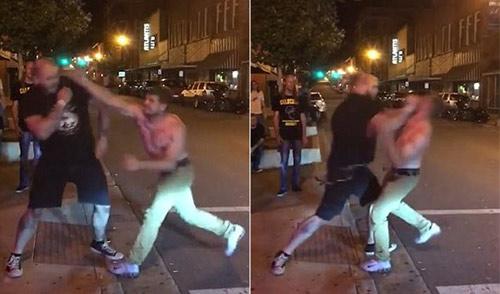 """Gã trai hùng hổ đánh võ sĩ MMA: 1 đấm đã """"tắt điện"""" - 1"""