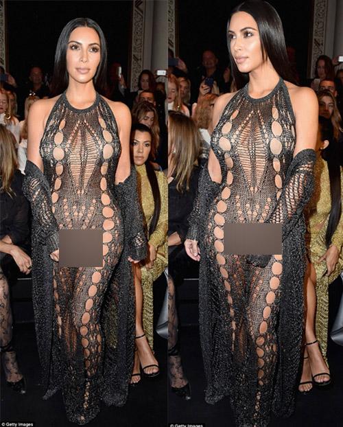 Cô Kim khoe đường cong siêu tưởng với váy nghìn lỗ - 1