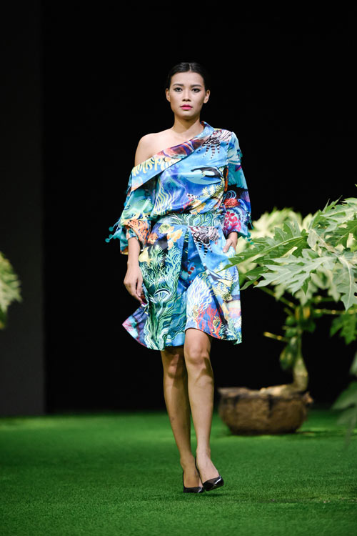 Sắc xanh tràn ngập Tuần lễ Thời trang Việt Nam 2017 - 12