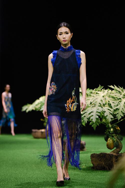 Sắc xanh tràn ngập Tuần lễ Thời trang Việt Nam 2017 - 14