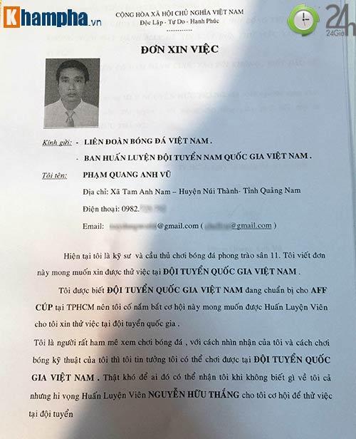 Độc đáo: Một kỹ sư bất ngờ xin thử việc ĐT Việt Nam - 2