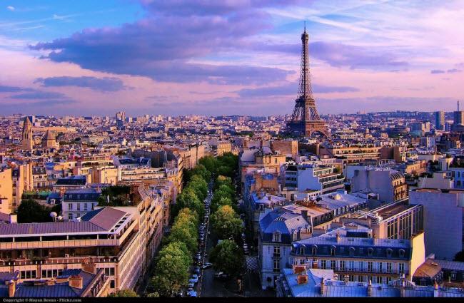 Thành phố Paris, Pháp (18,03 triệu du khách quốc tế).