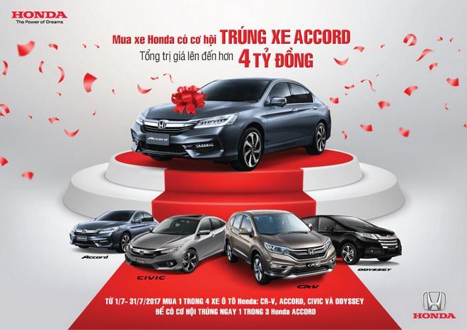 Cơ hội trúng Honda Accord khi mua ô tô Honda trong tháng 7 - 1